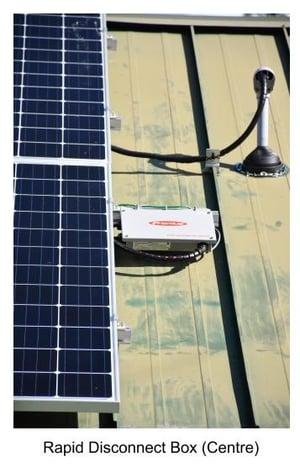 Hedgehog Technologies Roof Mounted Rapid Shutdown on Solar PV