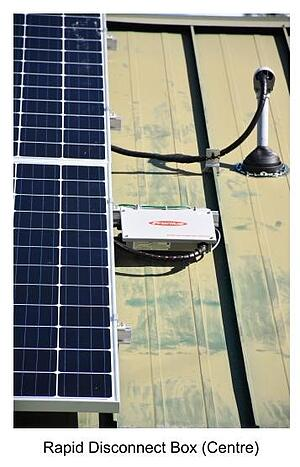 Hedgehog Technologies Roof Mounted Rapid Shutdown on Solar PV