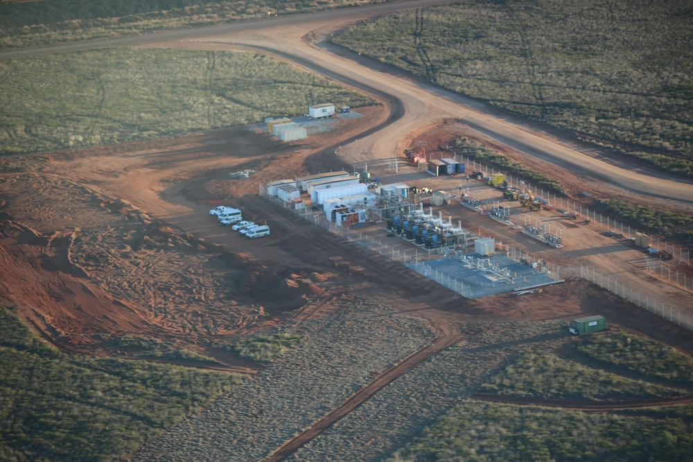Port Hedland mother station site - aerial view